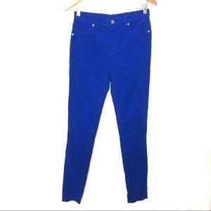 Carmar Royal Blue High Rise Corduroy Skinny Jeans
